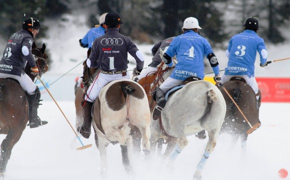 Debutto sotto la neve per la Cortina Winter Polo Audi Gold Cup