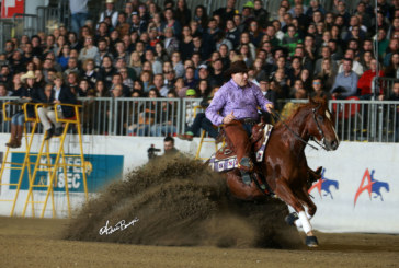 IRHA/NRHA Futurity 3-Year-Old Non Pro Finals: Giuseppe Prevosti e Firstjabacoffeewhiz at the top!