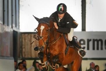 Luca Coata è il vincitore del Gran Premio indoor all' Arezzo Equestrian Centre