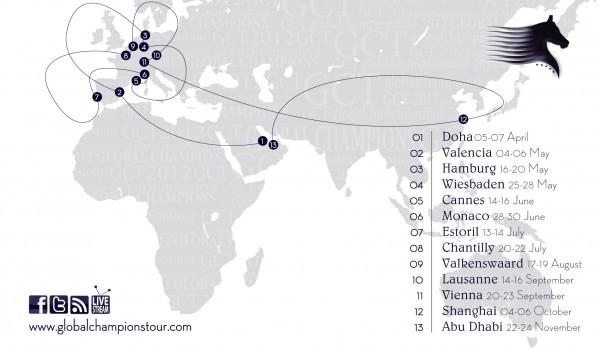 Tutte le tappe del Global Champions Tour 2012