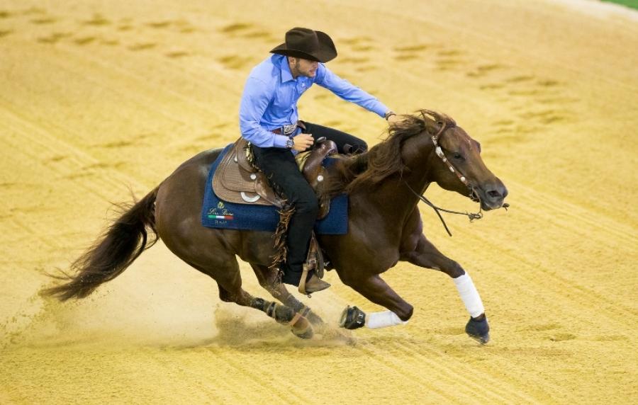 Il reining azzurro è due volte d'oro con Giovanni Masi de Vargas campione d'Europa