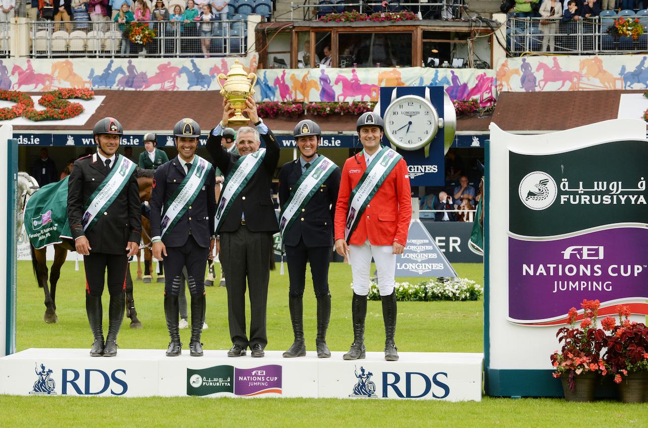 La magia dell'Horse Show di Dublino premia gli italiani che si aggiudicano ancora una volta la Coppa delle Nazioni